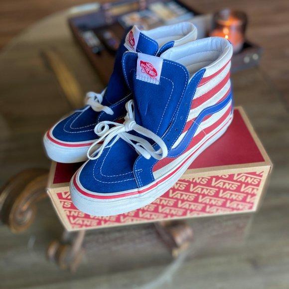 Vans Shoes   Sk8hi 38 Dx Red White Blue